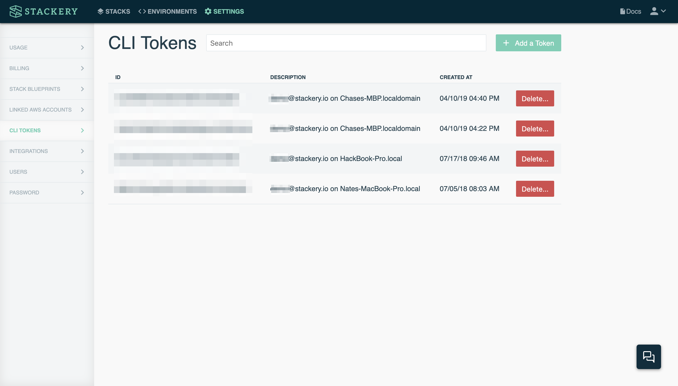 Stackery Dashboard