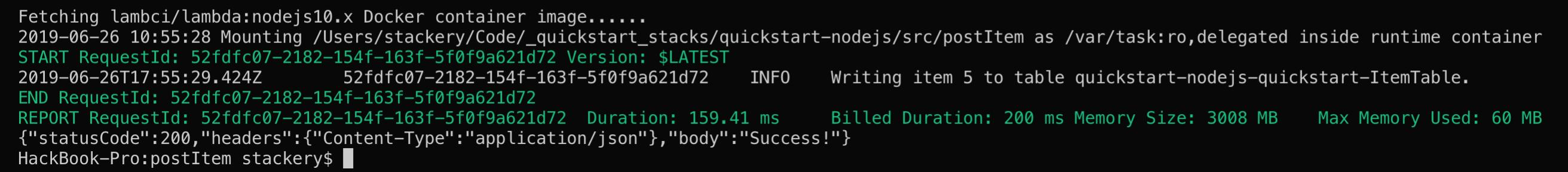 Stackery Quickstart Python · Stackery Documentation