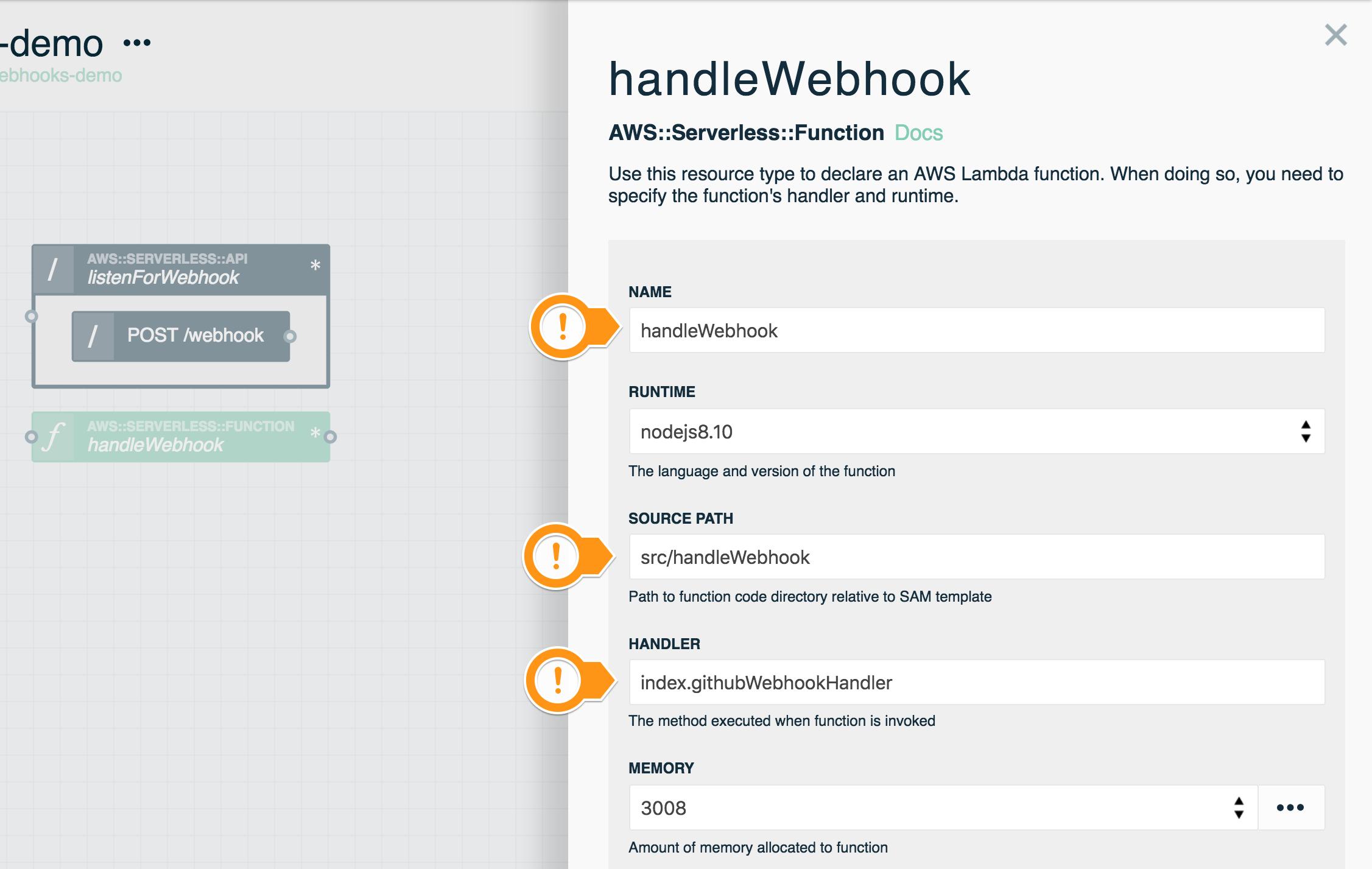 Serverless Webhooks Tutorial · Stackery Documentation